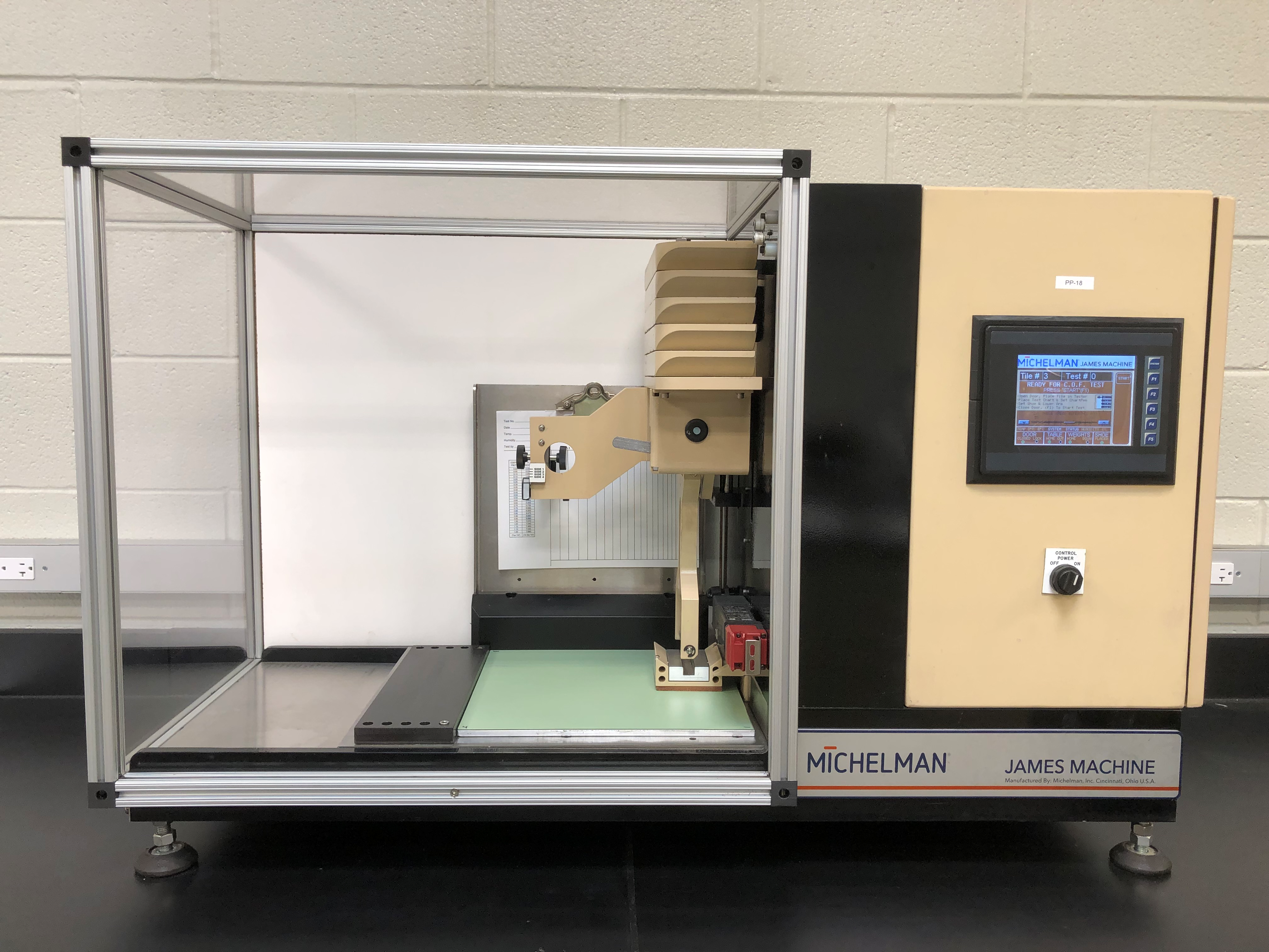 ASTM D2047 Static Coefficient of Friction Test
